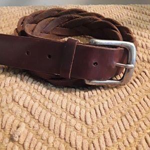 Stunning vintage brown leather belt